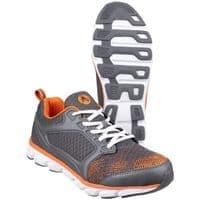 Amblers Safety AS707 Kyanite Trainers Safety Grey / Orange